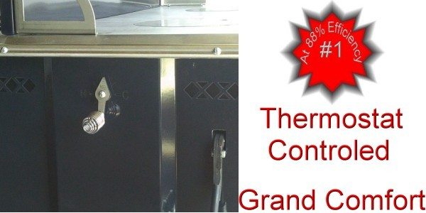 Grand Comfort Wood Cook Stove Thermostat Control